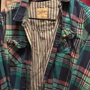 Plaid hollister shirt